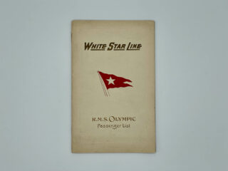 RMS Olympic Passenger List Cover