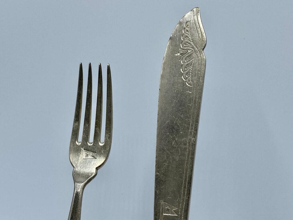 White Star Line Knife Fork 1st Class 2