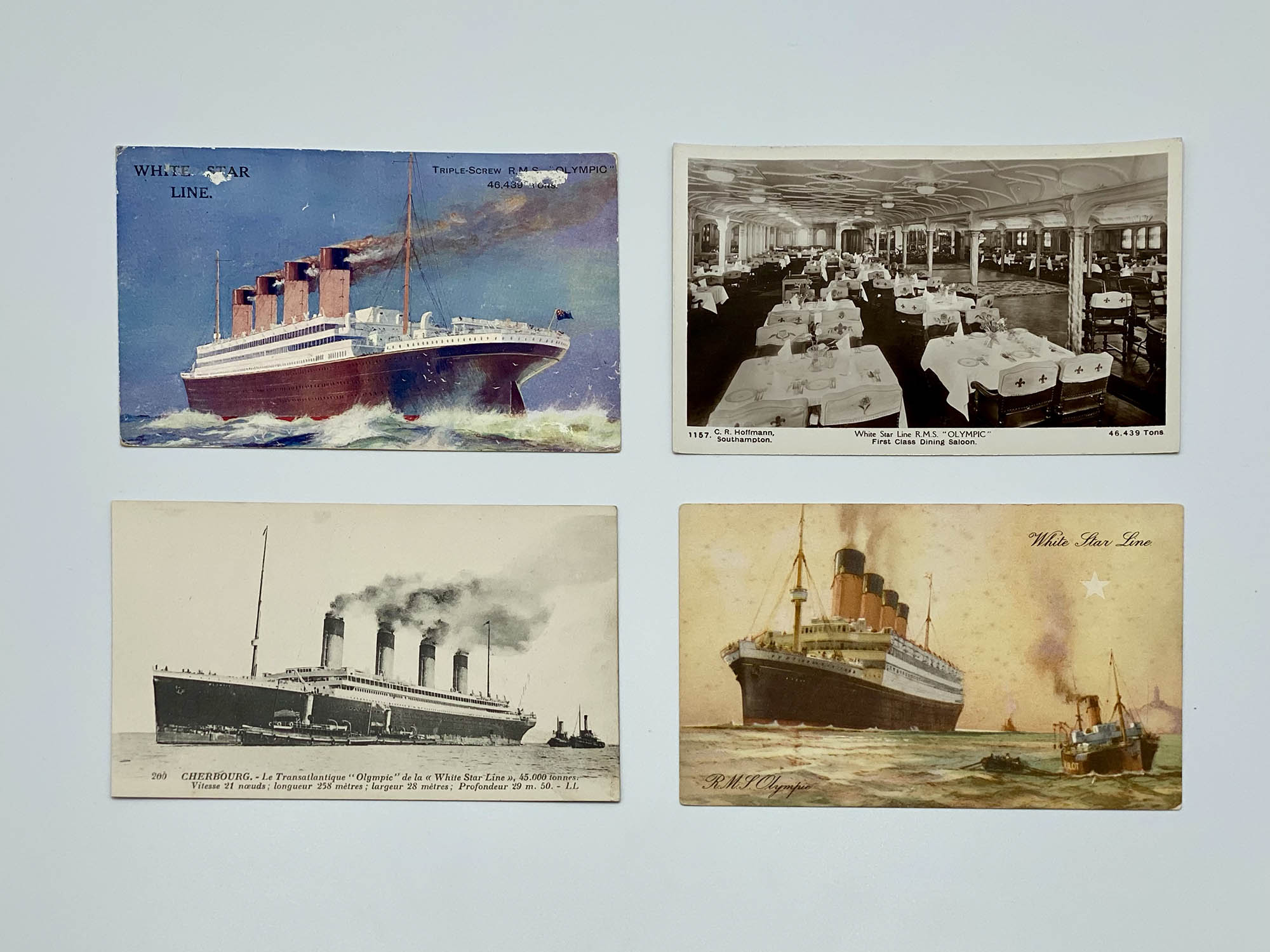White Star Line Olympic Postcards