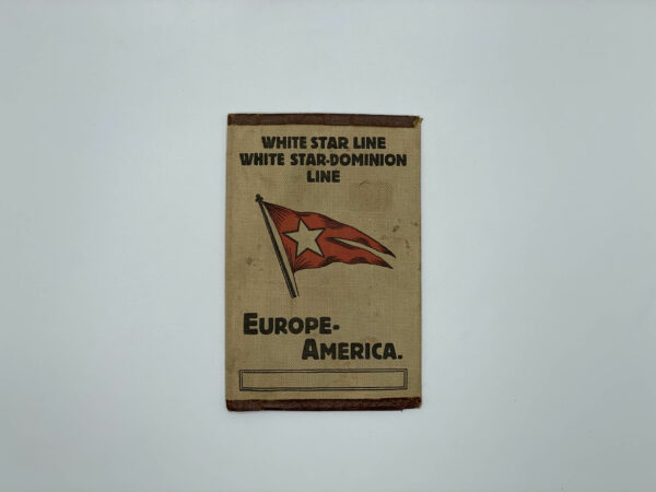 White Star Line Ticket Holder Dominion Line Front