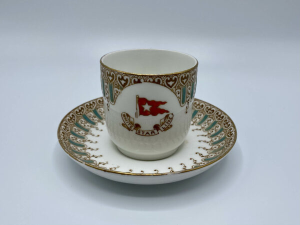 White Star Line Wisteria Pattern Coffee Cup